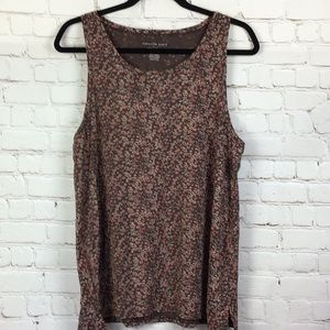 American Eagle Soft & Sexy brown floral tank top